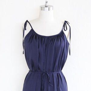 "0e41f8164a58 Victoria s Secret Intimates   Sleepwear - Victoria s Secret ""Classic Navy"" Satin  Jumpsuit"